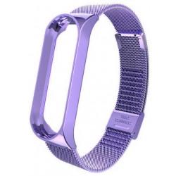 Ремешок Xiaomi Mi Band 4 мелкое звено metall violet