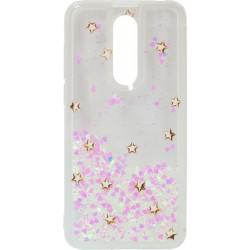 Накладка Meizu M6T pink heart Flowers аквариум