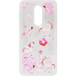 Накладка Meizu M8 Lite pink heart Flowers аквариум