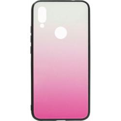 Накладка Xiaomi Redmi7 pink/white Gradient Glass