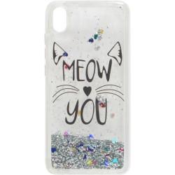 Накладка Xiaomi Redmi7A silver Meow You аквариум