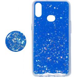 Накладка SA A107 blue Shine Stars+Popsocet