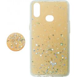 Накладка SA A107 gold Shine Stars+Popsocet