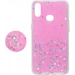 Накладка SA A107 pink Shine Stars+Popsocet