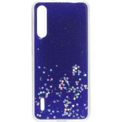 Накладка Xiaomi Mi A3/CC9e blue/silver Confetti