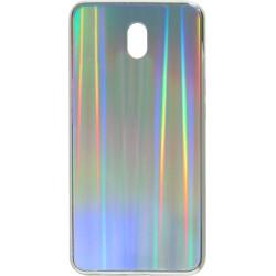 Накладка Xiaomi Redmi 8A silver rainbow Chameleon Glass