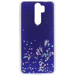 Накладка Xiaomi Redmi Note 8 Pro blue/silver Confetti