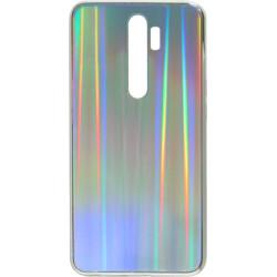 Накладка Xiaomi Redmi Note 8 Pro silver rainbow Chameleon Glass