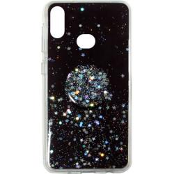 Накладка SA A107 black Shine Stars + Popsocet