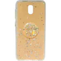 Накладка Xiaomi Redmi 8A gold Shine Stars + Popsocet