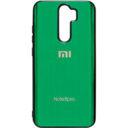 Накладка Xiaomi Redmi Note 8 Pro green Metal Glass