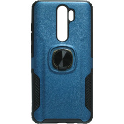 Накладка Xiaomi Redmi Note 8 Pro blue Magnet Ring Hard Case