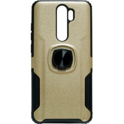 Накладка Xiaomi Redmi Note 8 Pro gold Magnet Ring Hard Case