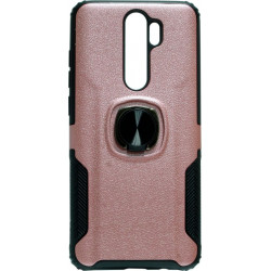 Накладка Xiaomi Redmi Note 8 Pro pink Magnet Ring Hard Case