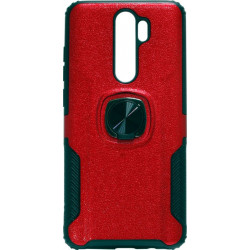 Накладка Xiaomi Redmi Note 8 Pro red Magnet Ring Hard Case