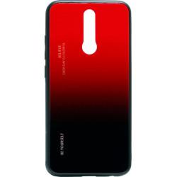 Накладка Xiaomi Redmi 8 black/red Gradient Glass
