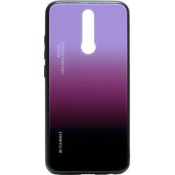 Накладка Xiaomi Redmi 8 black/violet Gradient Glass