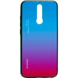 Накладка Xiaomi Redmi 8 pink/blue Gradient Glass