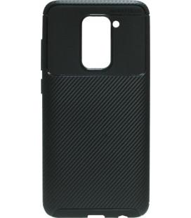 Накладка Xiaomi Redmi Note9 black Carbon TPU PC
