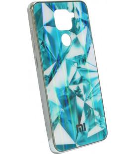Накладка Xiaomi Redmi Note9 sea blue Prism Chameleon Glass