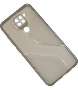 Силикон Xiaomi Redmi Note 9 gray Wave Totu