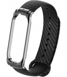 Ремешок Xiaomi Mi Band 3/4 black metall Carbon