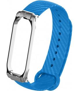 Ремешок Xiaomi Mi Band 3/4 blue metall Carbon