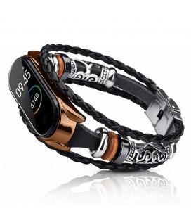 Ремешок Xiaomi Mi Band 3/4 black/rose gold Jewellery