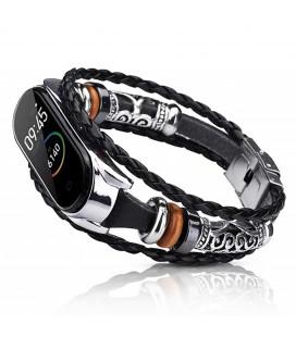 Ремешок Xiaomi Mi Band 3/4 black/silver Jewellery